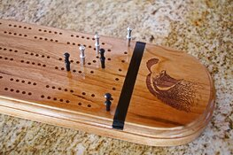 cribbage board with quail.jpg